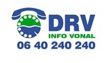 DRV info vonal
